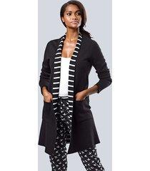 vest alba moda zwart::wit
