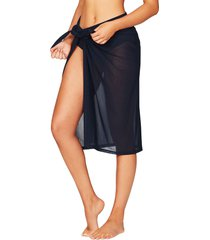 women's sea level mesh swim wrap cover-up, size medium - blue