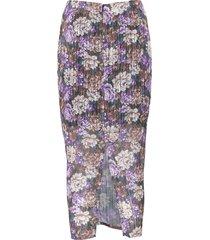 women's birgitte herskind alexis ruched floral midi skirt