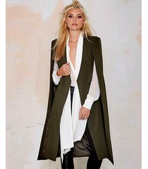 open front blazer suits pocket cape trench duster longline cloak poncho coat