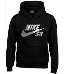 buzo estampado nike sb plateado con capota saco  hoodies sport