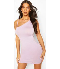asymmetric strappy bodycon dress, lilac