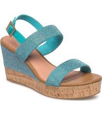 womens sandal sandalette med klack espadrilles grön ilse jacobsen