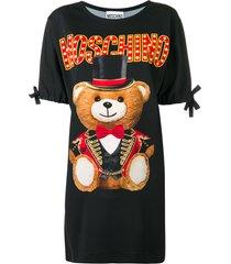 moschino circus teddy bear t-shirt dress - black