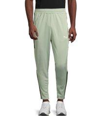 puma men's blaster slim-fit training pants - green - size l
