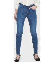 jeans  jacqueline de yong azul - calce ajustado
