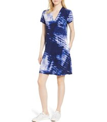 women's kenneth cole new york jersey shift dress, size medium - blue