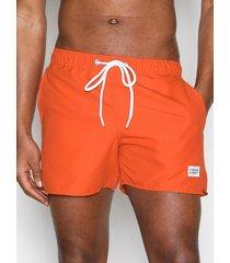 frank dandy breeze long swim shorts badkläder orange