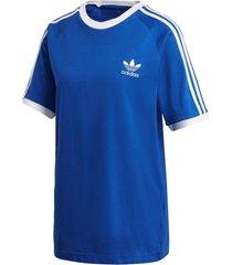 camiseta adidas 3 str tee azul - azul - feminino - dafiti