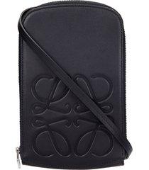 loewe waist bag in black leather