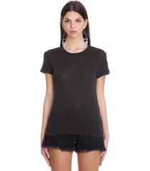 iro t-shirt in black cotton