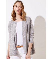 loft petite shimmer open poncho sweater