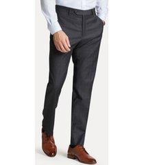 tommy hilfiger men's regular fit suit pant in windowpane check grey sharkskin windowpane - 34/30