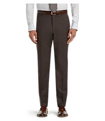 executive collection tailored fit flat front dress pants - big & tall by jos. a. bank