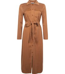 mare tencel long button dress