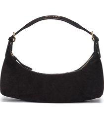 'mara' suede leather baguette shoulder bag