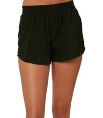 women's o'neill landing woven shorts, size x-large - black