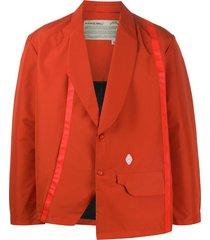 a-cold-wall* asymmetric single-breasted blazer - orange