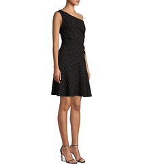 willow studded one-shoulder dress