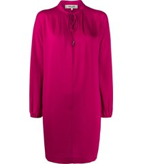 dvf diane von furstenberg drawstring-neck midi dress - pink
