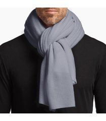 lightweight cashmere ribbed scarf