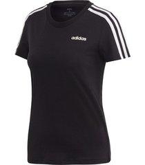 t-shirt korte mouw adidas essentials 3 stripes slim tee women