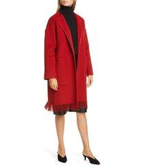 women's lafayette 148 new york barnett fringe trim cashmere coat