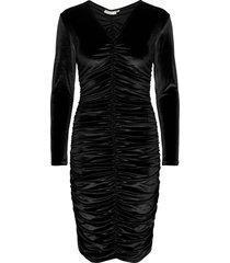 faryliw slim dress knälång klänning svart inwear
