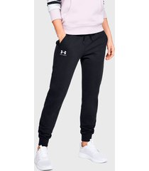 pantalón de buzo under armour ua rival fleece graphic pant negro - calce regular