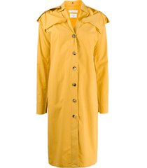 bottega veneta military-style shirt dress - yellow