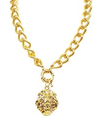 colar la madame co colar pingente dourado - dourado - feminino - dafiti