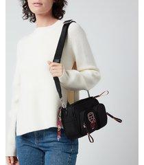 karl lagerfeld women's ikonik biarritz nylon shoulder bag - black