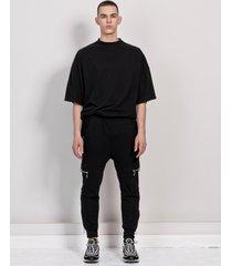 spodnie cargo black zip