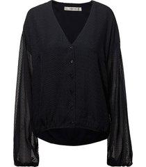 jazy shirt ao18 blouse lange mouwen zwart gestuz