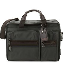 tumi classic computer briefcase - grey brown