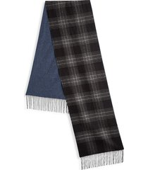saks fifth avenue men's collection double face silk & cashmere scarf - navy