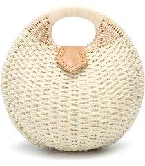 borsa a mano di paglia da spiaggia tote bag rattan bag