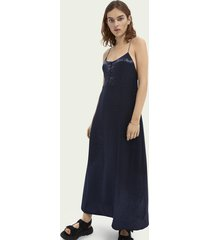 scotch & soda jacquard summer slip dress