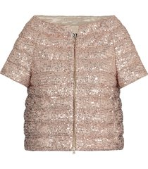 herno sequins quilted coat