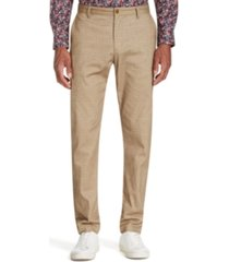 tallia men's straight-fit stretch geo houndstooth pants