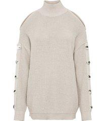 maglione con cut-out (beige) - rainbow