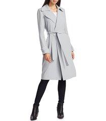 theory women's oaklane trench coat - nude khaki - size xl