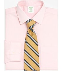 camisa milano fit spread collar rosa brooks brothers