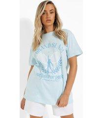 oversized tennis t-shirt, light blue