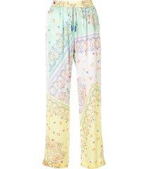 mira mikati bandana-print straight-leg trousers - multicolour