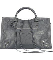 balenciaga classic medium double handles tote bag