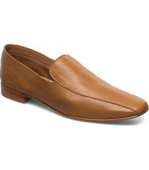 viola black leather loafers låga skor brun flattered