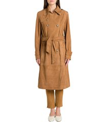 arma lorenza suede trench coat
