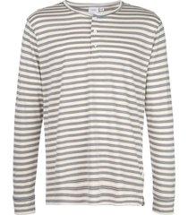onia miles east stripe henley sweatshirt - white