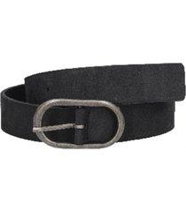cinturón cuero liso negro